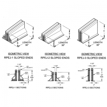 RPEJ 1-2-3 Sloping End Sections